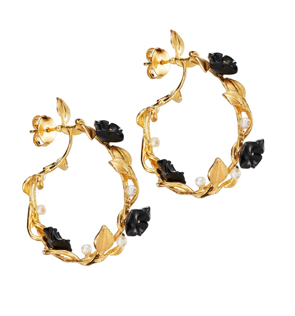 Black Mini Hoop Earrings