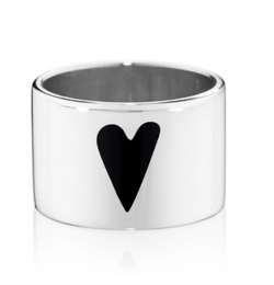 Jessica Biales Heart Band Ring - Black @ Hero Shop SF
