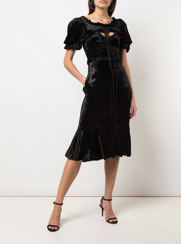 Brock Collection Pauletta Velvet Dress
