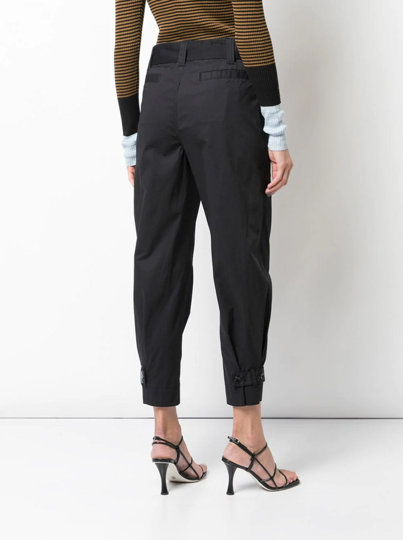 Proenza Schouler White Label Cotton Belted Pant