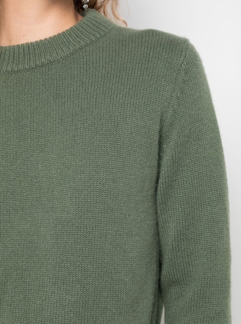 Tibi Mini Crewneck Pullover - Army @ Hero Shop SF