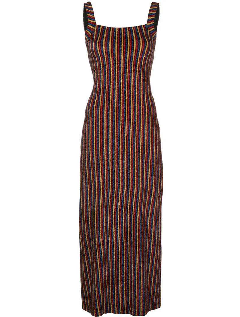 Rosetta Getty Square Neck Tank Dress - Multi @ Hero Shop SF