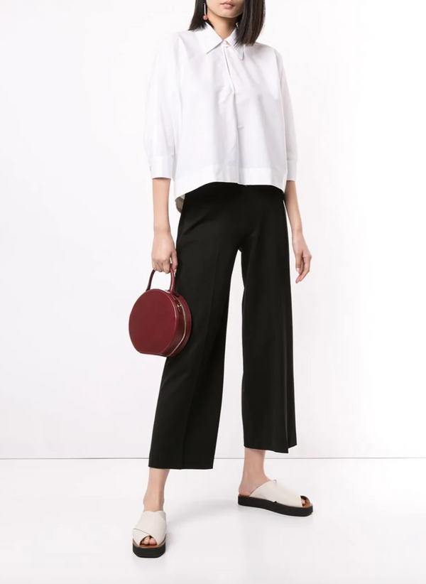 Rosetta Getty Pull On Straight Trouser - Black @ Hero Shop SF