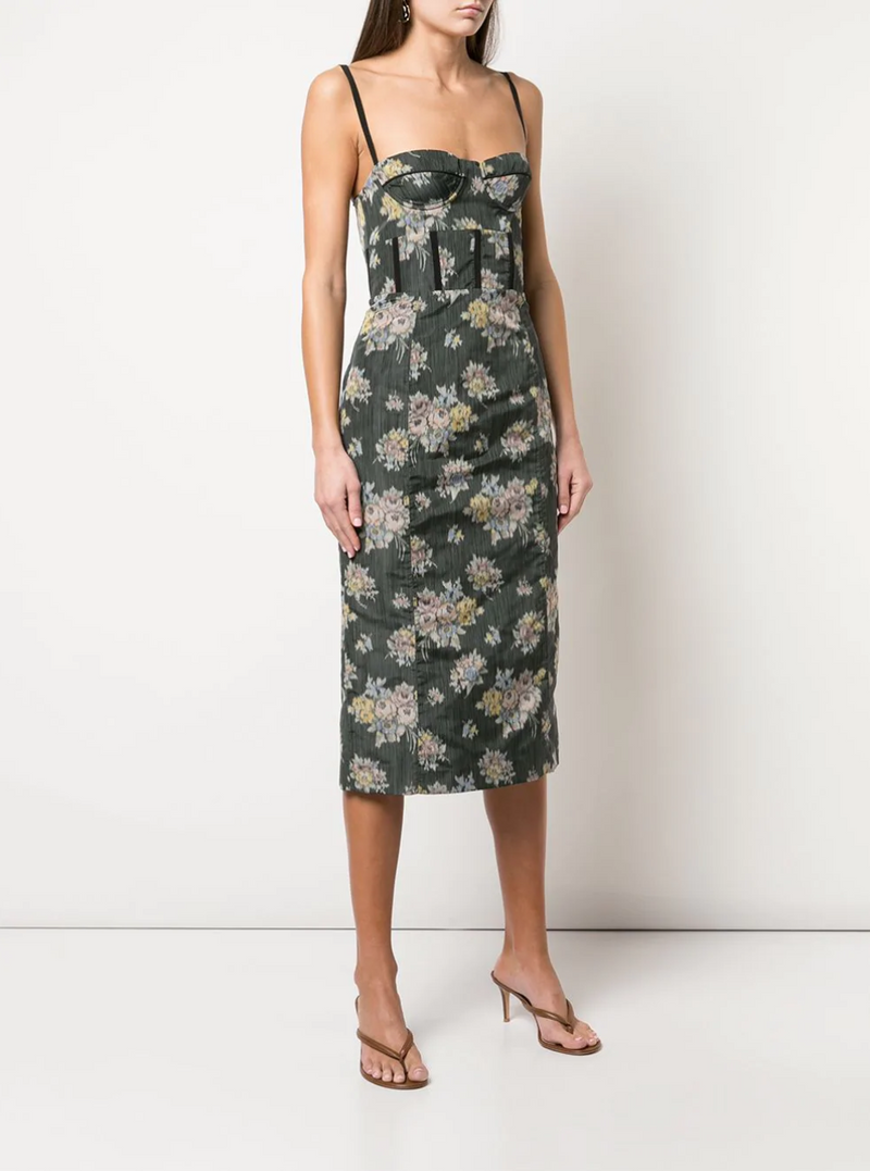 Brock Collection Silk Georgette Floral Dress