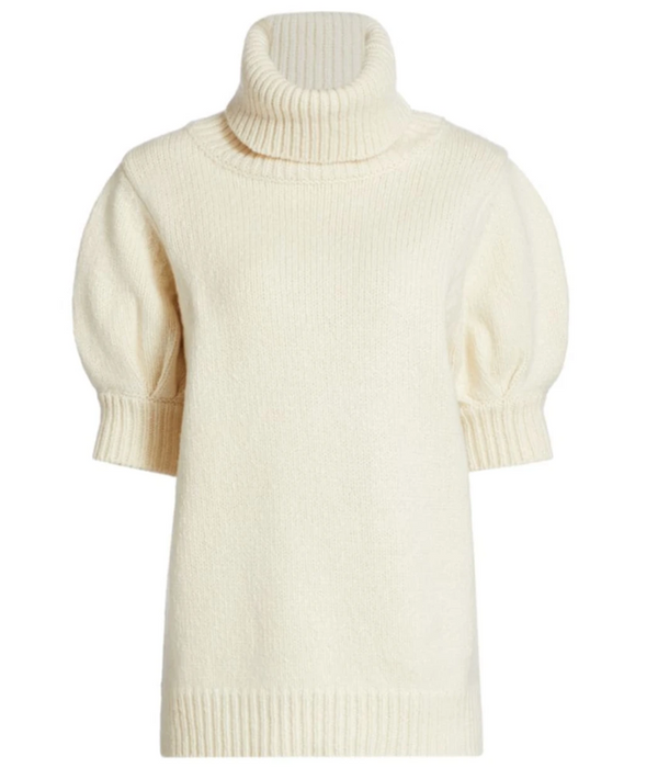 Adam Lippes Puff Sleeve Sweater - Ivory