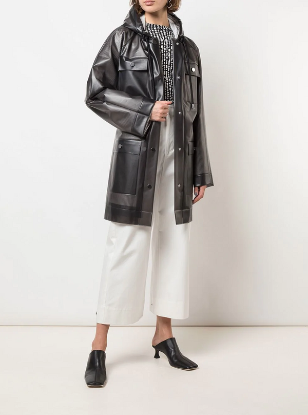 Proenza Schouler White Label Belted Raincoat - Grey @ Hero Shop SF'