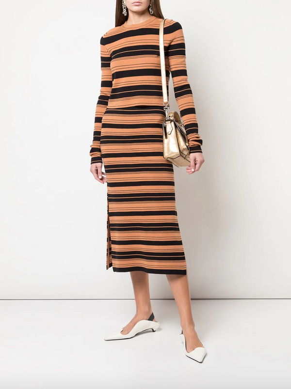 Proenza Schouler White Label Striped Skirt