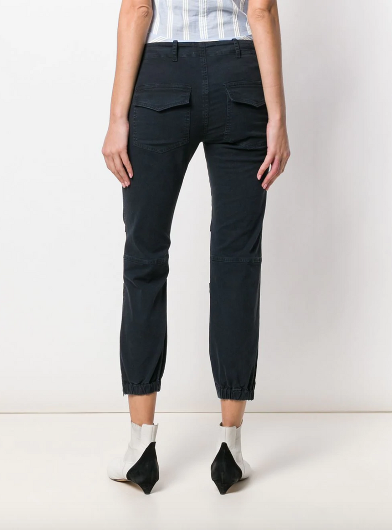 Nili Lotan Cropped Military Pant - Dark Navy @ Hero Shop SF
