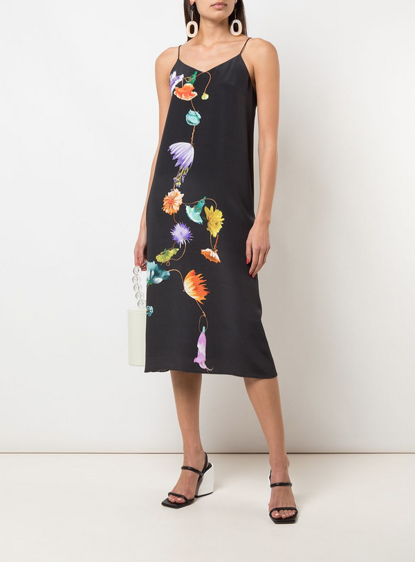 Tibi Floral Slip Dress