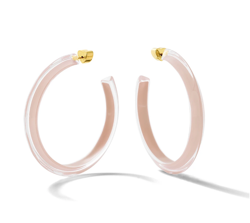Alison Lou Medium Jelly Hoops - Nude @ Hero Shop SF