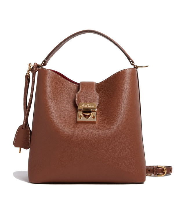 Mark Cross Murphy Large Leather Bucket Bag - Acorn @ Hero Shop