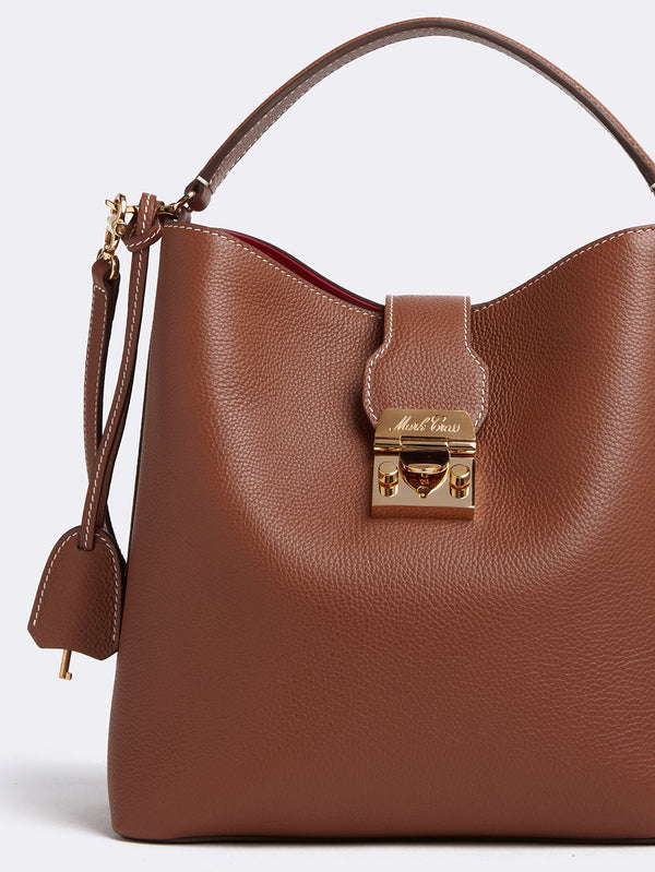 Mark Cross Murphy Large Leather Bucket Bag - Acorn @ Hero ShopMark Cross Murphy Large Leather Bucket Bag - Acorn @ Hero Shop