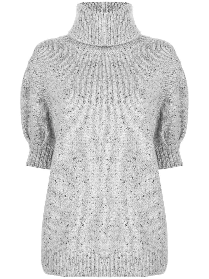 Adam Lippes Puff Sleeve Sweater - Grey
