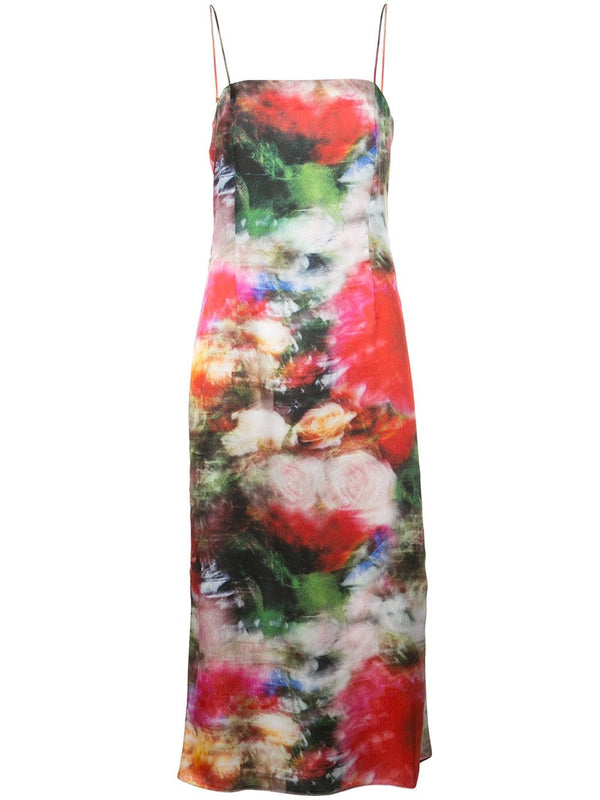 Adam Lippes Printed Silk Cami Dress