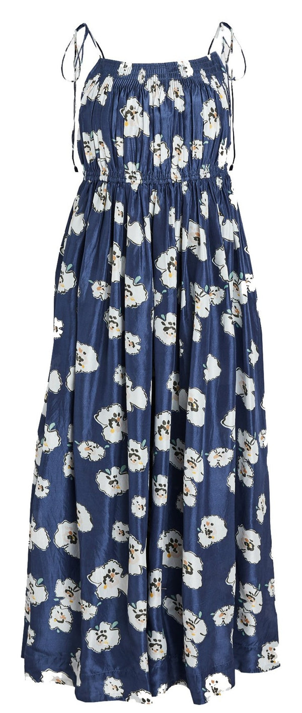 Apiece Apart Cecile Tank Dress - Navy Floral @ Hero Shop SF