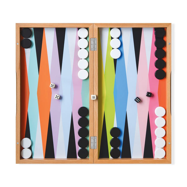 MoMA Colorplay Backgammon Set