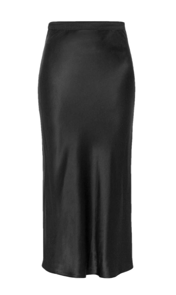 Anine Bing Bar Silk Skirt - Black @ Hero Shop SF