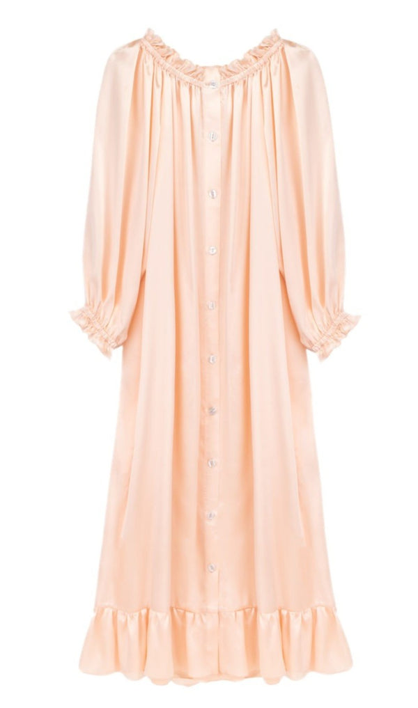 Sleeper Silk Loungewear Dress - Blush @ Hero Shop SF