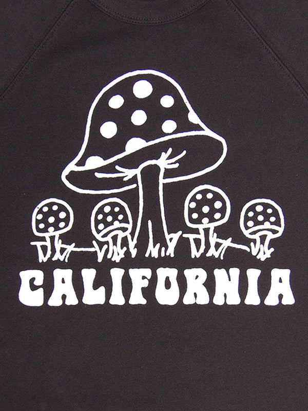 Culk California Mushroom Sweatshirt - Black @ Hero Shop SF