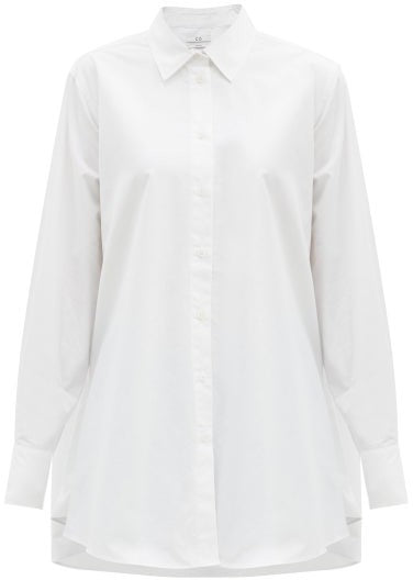 Co. A-Line Button Down Shirt White @ Hero Shop SF