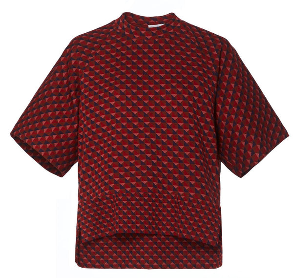 Rosetta Getty Jacquard Cocoon Shirt - Red @ Hero Shop SF