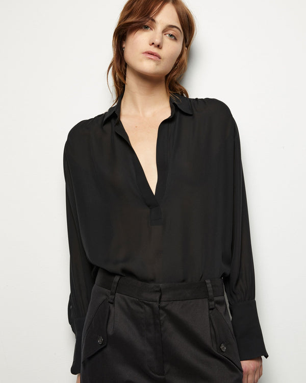 Nili Lotan Colleen Top - Black @ Hero Shop SF