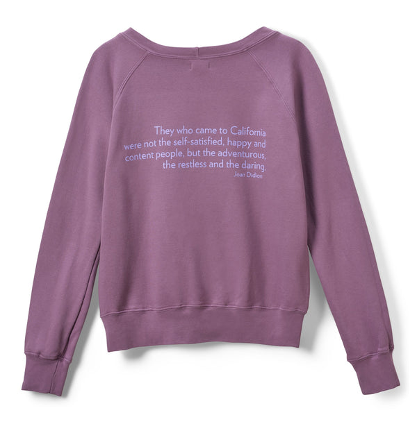 re:la Didion Crewneck Sweatshirt - Purple @ Hero Shop SF
