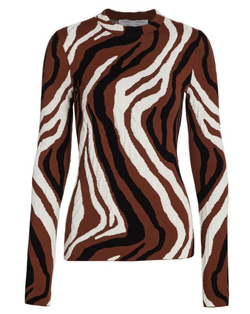 Proenza Schouler White Label Zebra Jacquard Knit Top @ Hero Shop