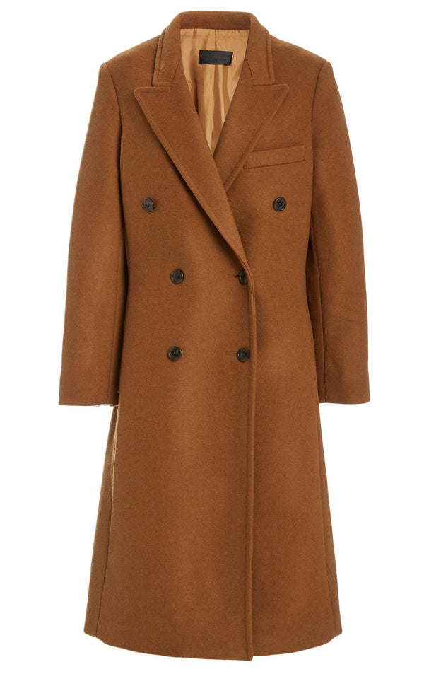 Nili Lotan Matthew Overcoat - Tobacco @ Hero Shop