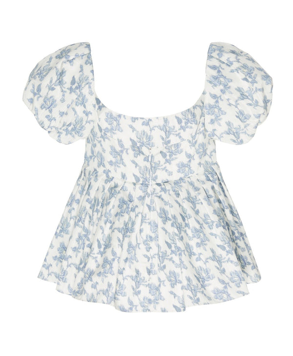 Brock Collection Floral Pleated Top