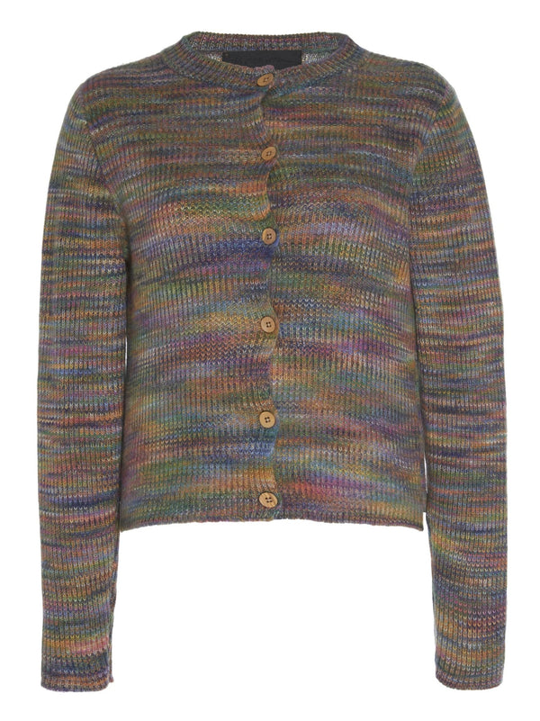 The Elder Statesman Cosmic Rib Crop Cardigan