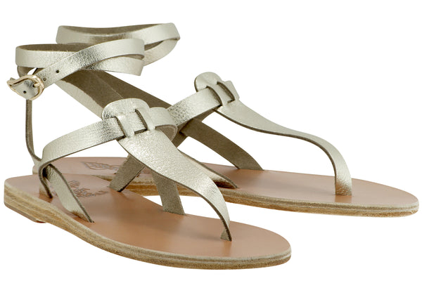 Ancient Greek Sandals Estia - Platinum