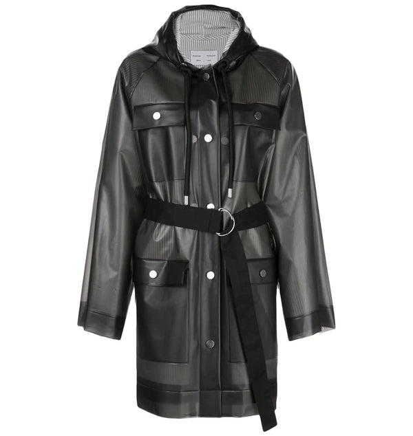 Proenza Schouler White Label Belted Raincoat - Grey @ Hero Shop SF