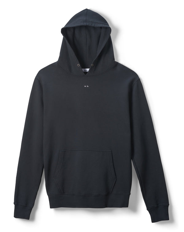 re:la Didion Classic Hoodie - Black @ Hero Shop SF