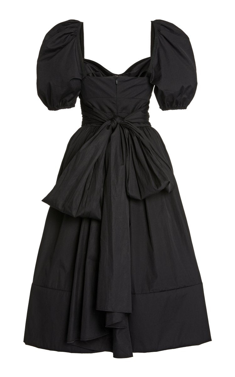 Brock Collection Rosette Puffed-Sleeve Cotton Dress @ Hero Shop