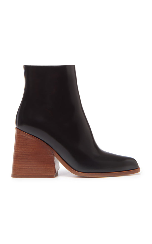 Gabriela Hearst Ava Bootie - Black Spazzolato @ Hero Shop