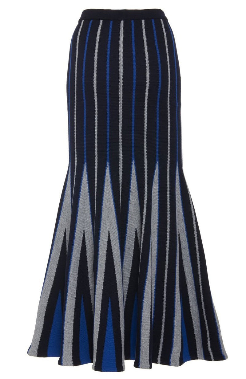Gabriela Hearst Aegina Striped Knit Skirt - Navy @ Hero Shop SF