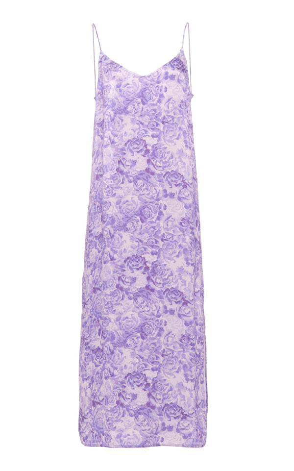 Ganni Heavy Satin Slip - Violet Tulip @ Hero Shop SF