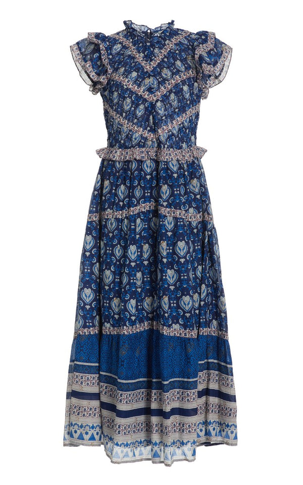 Sea NY Brigitte Border Dress - Blue @ Hero Shop
