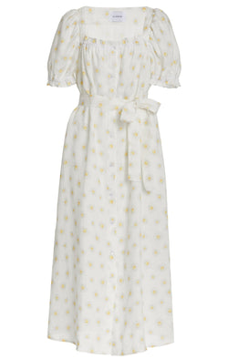 Sleeper Brigitte Linen Maxi Dress -  Daisies @ Hero Shop SF