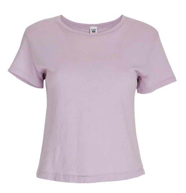 RE/DONE Heritage Cotton Classic Tee - Lilac