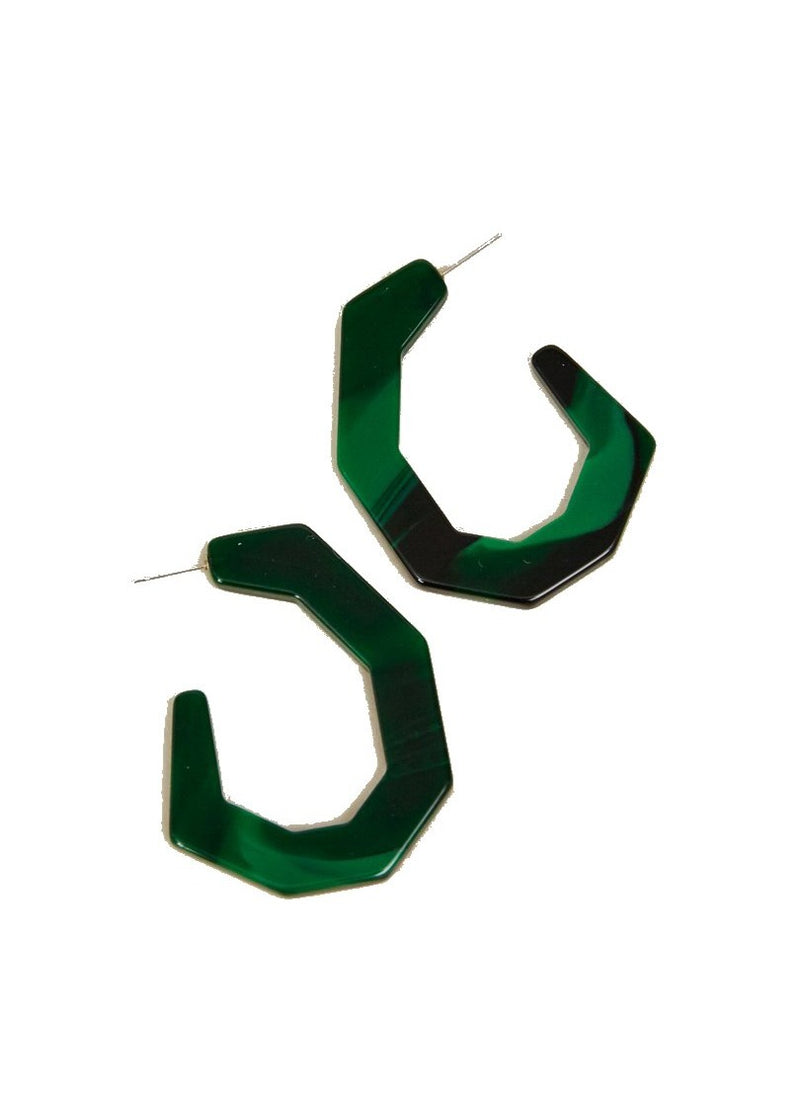 Rachel Comey Baby Factor Earrings - Malachite @ Hero Shop