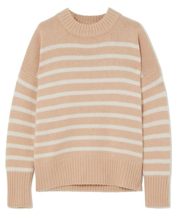 Marin Sweater - Camel / Cream