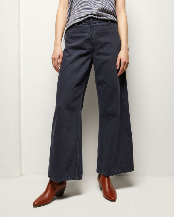 Nili Lotan Megan Pant - Washed Marine @ Hero Shop SF