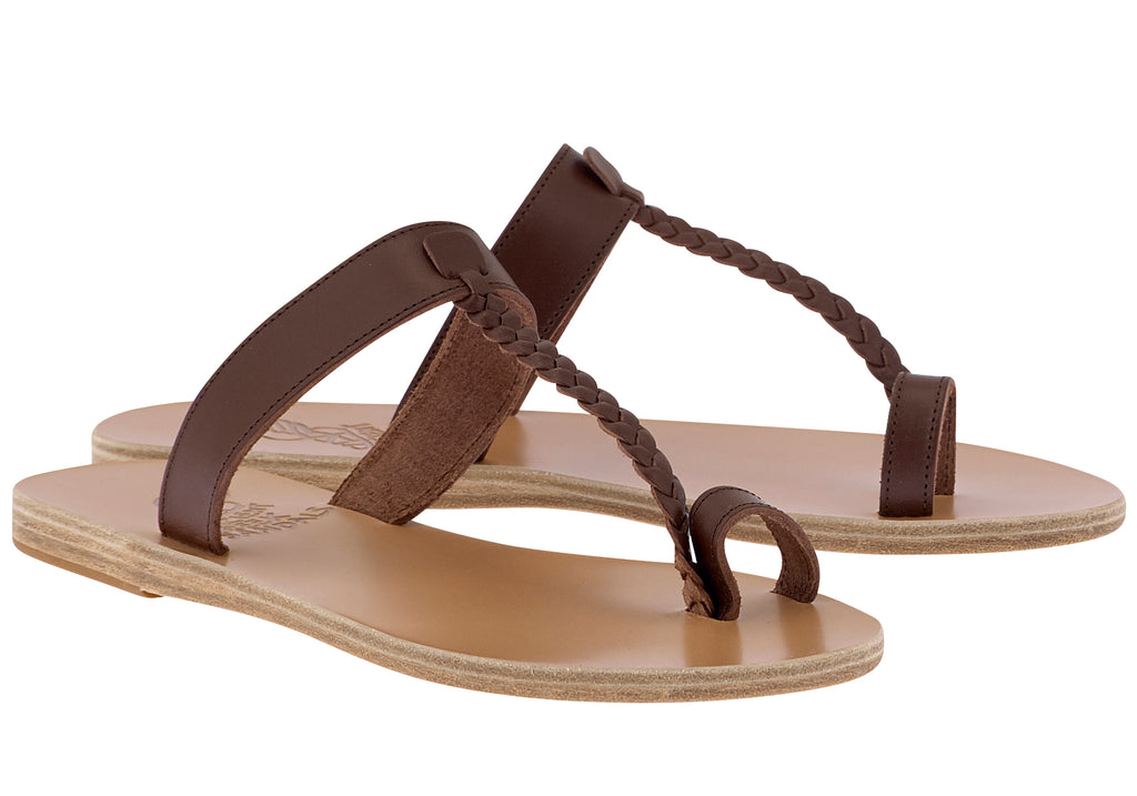 Ancient Greek Sandals Melpomeni - Chestnut