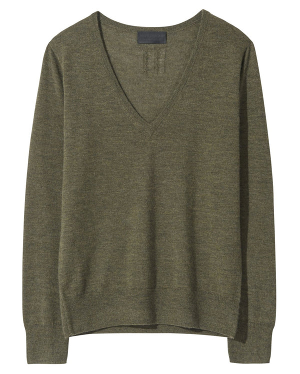Nili Lotan Muriel Sweater - Army Green @ Hero Shop