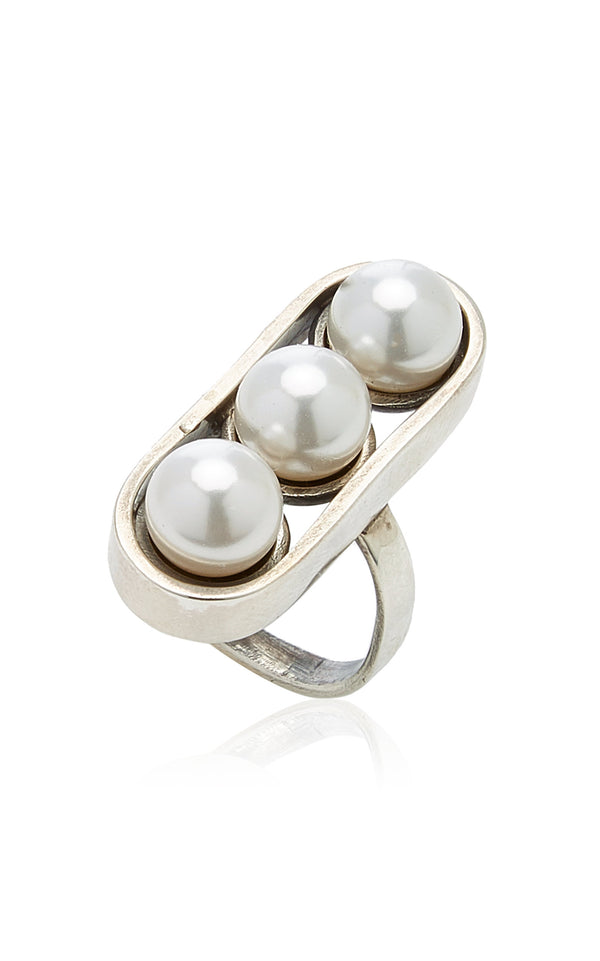 Sophie Buhai Three Pearl Ring @ Hero Shop SF