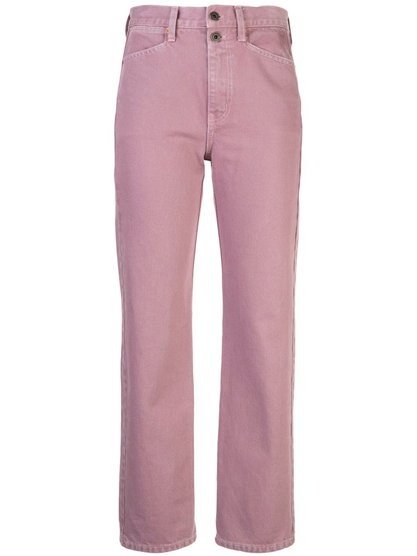 Proenza Schouler White Label Washed Denim Cropped Stovepipe - Lavender @ Hero Shop SF