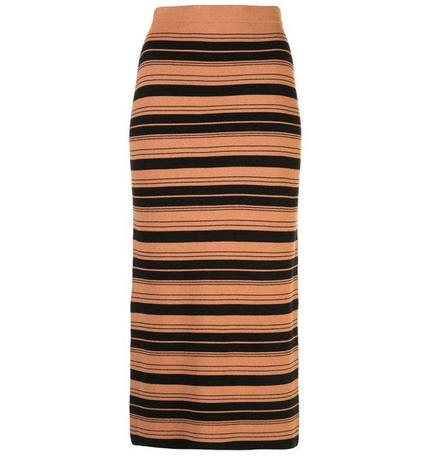 Proenza Schouler White Label Striped Skirt - Cinnamon @ Hero Shop SF