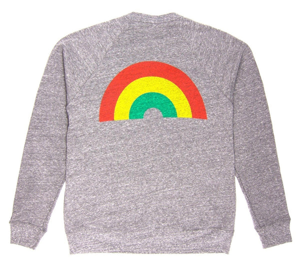 Culk Rainbow Crewneck Sweatshirt - Heather Grey @ Hero Shop SF